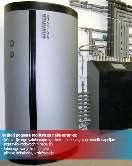 inštalacije servis centralnega ogrevanja in vodovodne instalacije komenda10