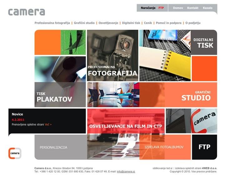 CAMERA, GRAFIČNI STUDIO, FOTOGRAFIJA, TISK, LJUBLJANA